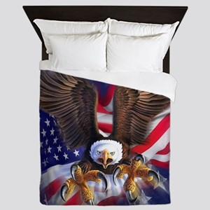 Patriotic Eagle Queen Duvet