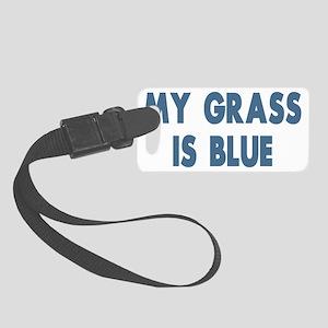my grass is blue lyn skyn 1 Small Luggage Tag