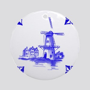 Dutchtile2b Round Ornament