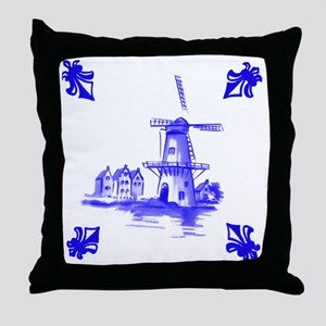Dutchtile2b Throw Pillow