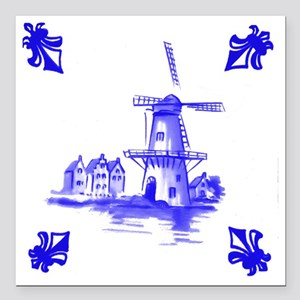 "Dutchtile2b Square Car Magnet 3"" x 3"""