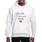 Kiss Me - Quit Smoking (lips) Hooded Sweatshirt