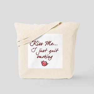Kiss Me - Quit Smoking (lips) Tote Bag