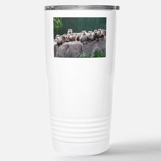 Otter family Stainless Steel Travel Mug