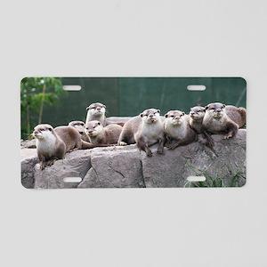 Otter family Aluminum License Plate
