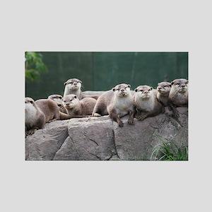 Otter family Rectangle Magnet
