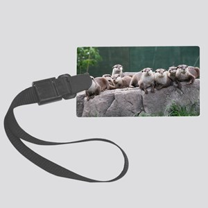 Otter family Large Luggage Tag