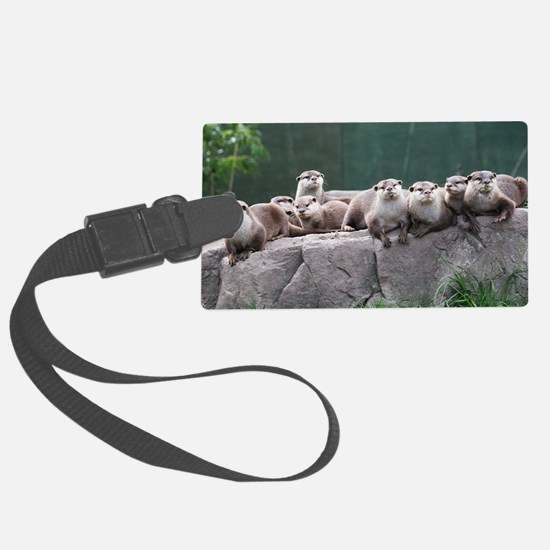 Otter family Luggage Tag