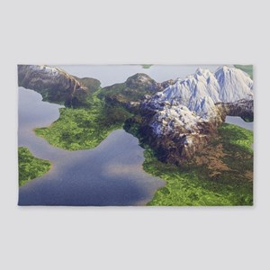 Digital Landscape - Mountains and Lakes 3'x5' Area