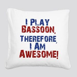 Bassoon copy Square Canvas Pillow
