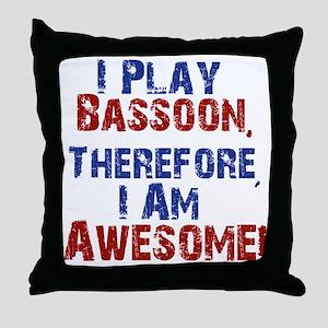 Bassoon copy Throw Pillow