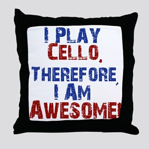 Cello copy Throw Pillow