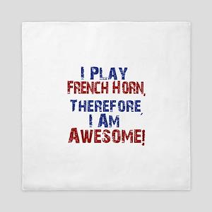 I Play French Horn Queen Duvet