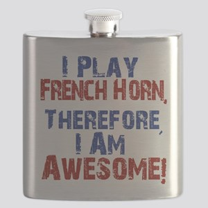 I Play French Horn Flask