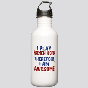 I Play French Horn Water Bottle