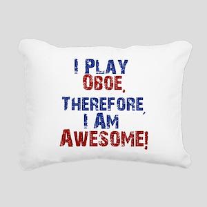 I Play Oboe Rectangular Canvas Pillow
