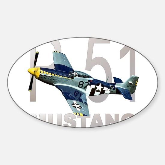 P-51 MUSTANG Rectangle Decal