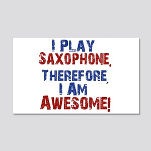I Play Saxophone Wall Decal