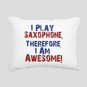I Play Saxophone Rectangular Canvas Pillow