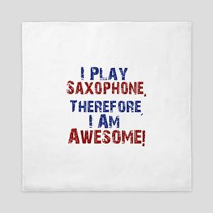 I Play Saxophone Queen Duvet