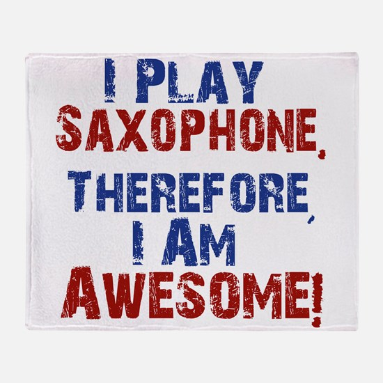 I Play Saxophone Throw Blanket