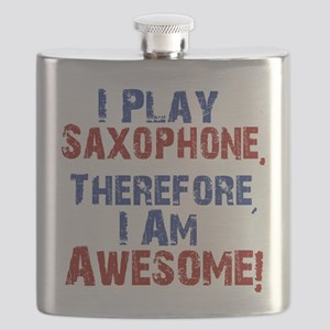 I Play Saxophone Flask