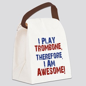 I Play Trombone Canvas Lunch Bag