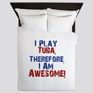 I Play Tuba Queen Duvet