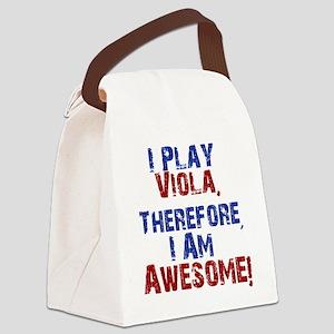 I Play Viola Canvas Lunch Bag