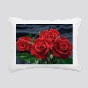 Red roses Rectangular Canvas Pillow