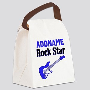 LOVE ROCK N ROLL Canvas Lunch Bag