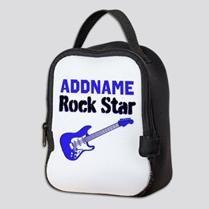 LOVE ROCK N ROLL Neoprene Lunch Bag