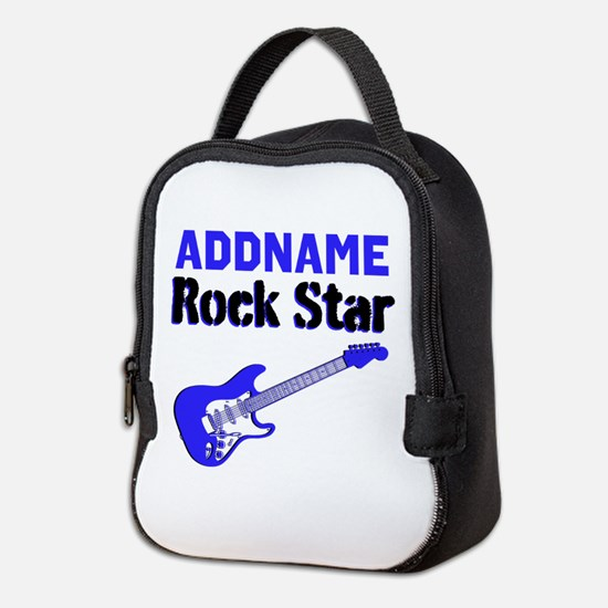 LOVE ROCK N ROLL Neoprene Lunch Bag