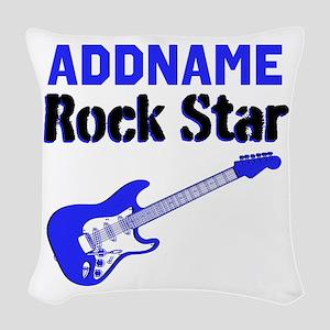 LOVE ROCK N ROLL Woven Throw Pillow
