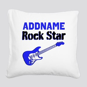 LOVE ROCK N ROLL Square Canvas Pillow