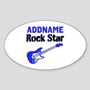 LOVE ROCK N ROLL Sticker (Oval)