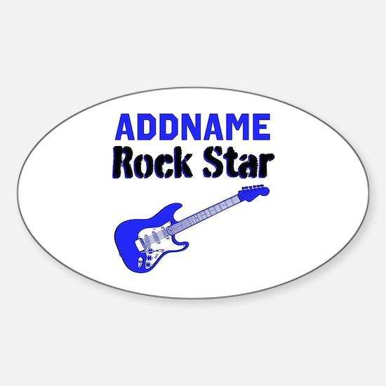 LOVE ROCK N ROLL Sticker (Oval)