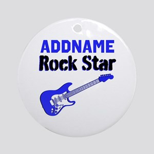 LOVE ROCK N ROLL Ornament (Round)