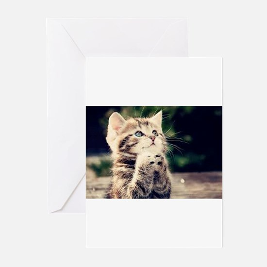Praying Kitty Greeting Cards