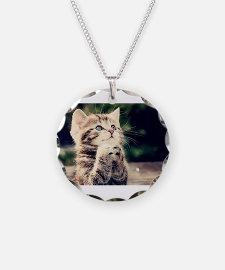 Praying Kitty Necklace