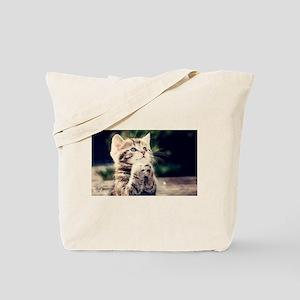 Praying Kitty Tote Bag
