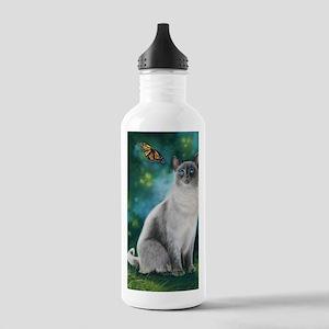 CatBluePointSiamese Stainless Water Bottle 1.0L