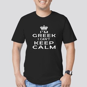 I Am Greek I Can Not Keep Calm Men's Fitted T-Shir