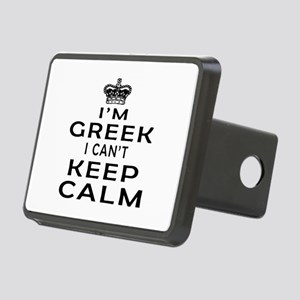 I Am Greek I Can Not Keep Calm Rectangular Hitch C