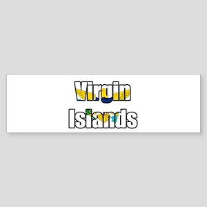 Virgin Islands Flag T Shirts Bumper Sticker