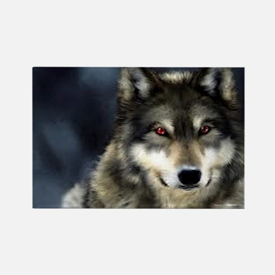 Wolf with Red Eyes Magnets