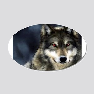Wolf with Red Eyes Wall Decal