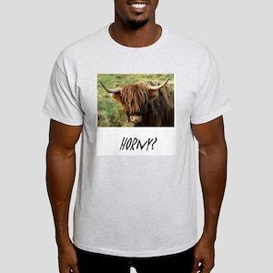 Horny Highland Cow Light T-Shirt