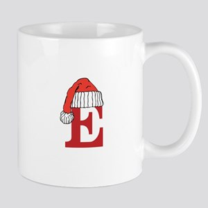 Letter E Christmas Monogram Mugs