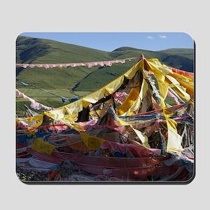 Prayer flags in Tibet Mousepad